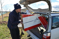 Packing the UAV into a car
